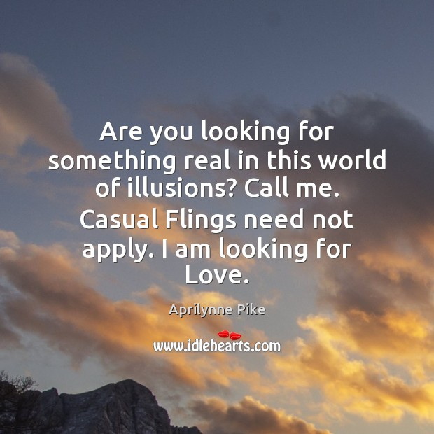 Are you looking for something real in this world of illusions? Call Image