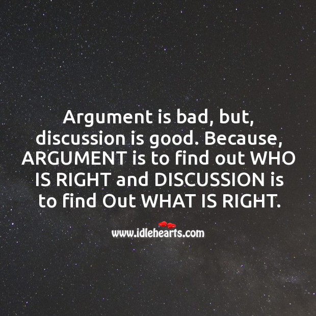 Image, Argument vs Discussion