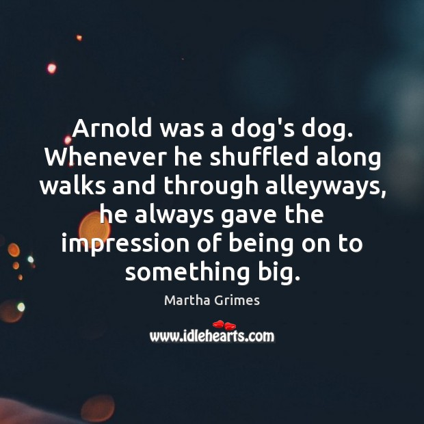 Image, Arnold was a dog's dog. Whenever he shuffled along walks and through