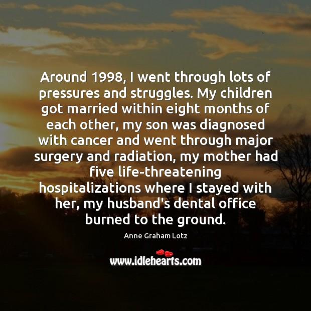 Around 1998, I went through lots of pressures and struggles. My children got Image