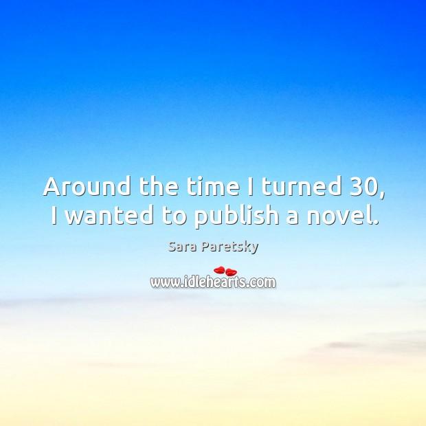 Around the time I turned 30, I wanted to publish a novel. Image