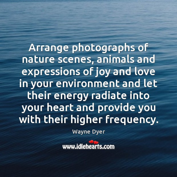 Image, Arrange photographs of nature scenes, animals and expressions of joy and love