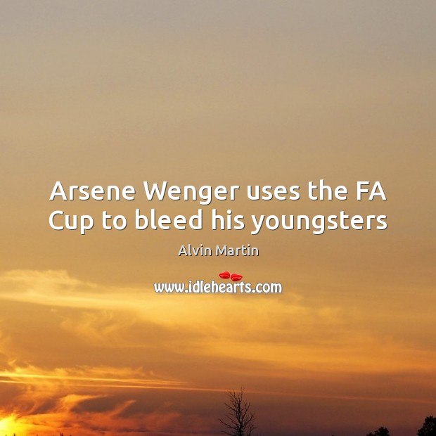 Image, Arsene Wenger uses the FA Cup to bleed his youngsters