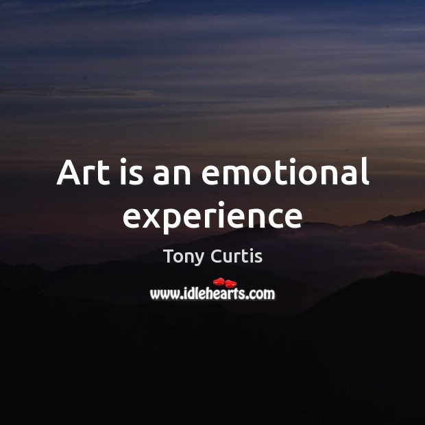 Art is an emotional experience Image