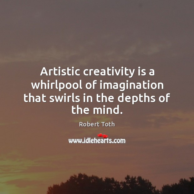 Image, Artistic creativity is a whirlpool of imagination that swirls in the depths of the mind.