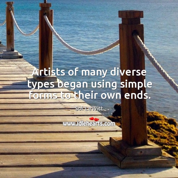 Artists of many diverse types began using simple forms to their own ends. Image