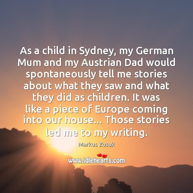 As a child in Sydney, my German Mum and my Austrian Dad Image