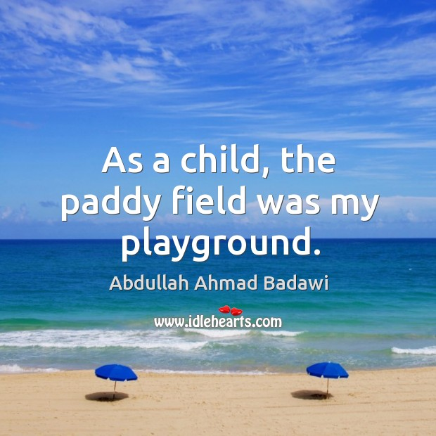 As a child, the paddy field was my playground. Image