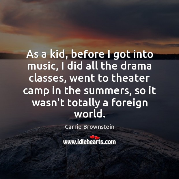 As a kid, before I got into music, I did all the Image