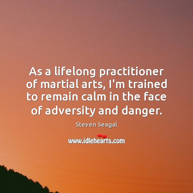 As a lifelong practitioner of martial arts, I'm trained to remain calm Image