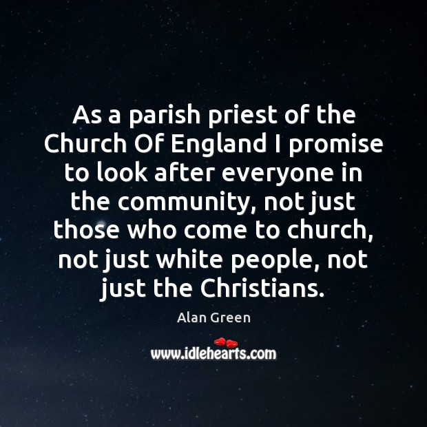 Image, As a parish priest of the Church Of England I promise to