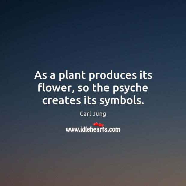 As a plant produces its flower, so the psyche creates its symbols. Image