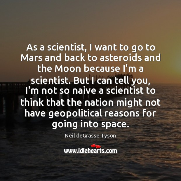 As a scientist, I want to go to Mars and back to Image