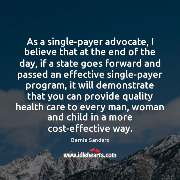 As a single-payer advocate, I believe that at the end of the Image