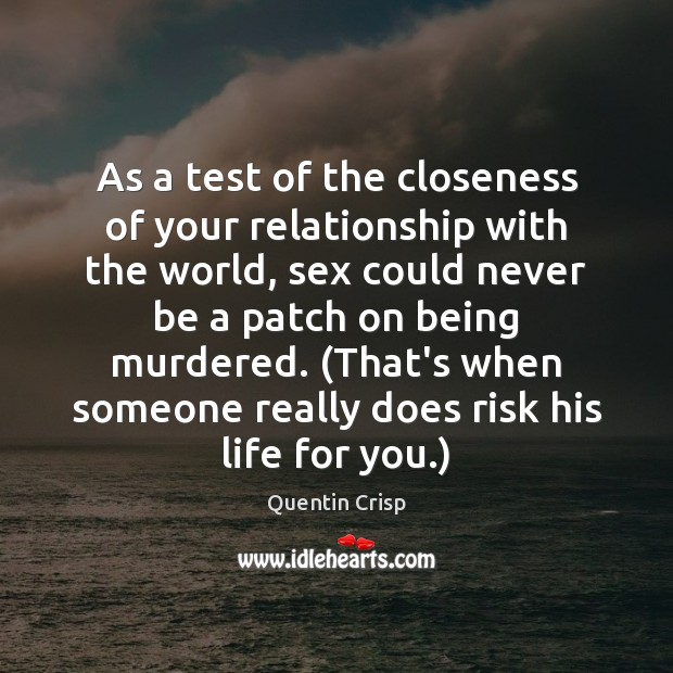 test and relationship closeness