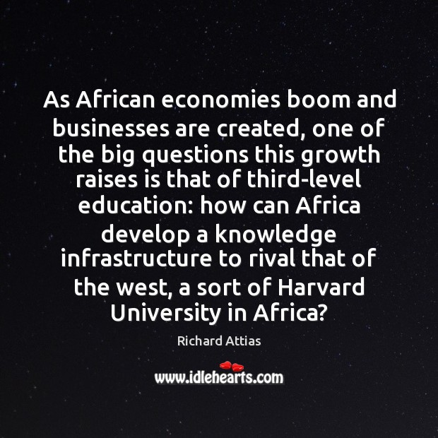 As African economies boom and businesses are created, one of the big Image