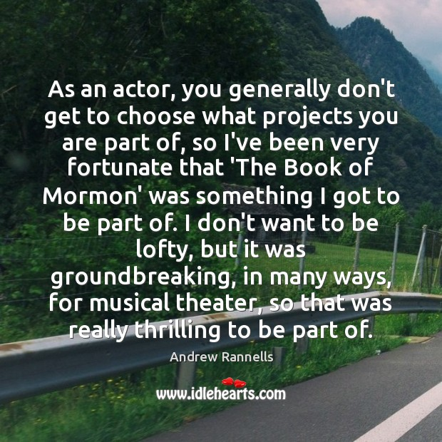 Picture Quote by Andrew Rannells
