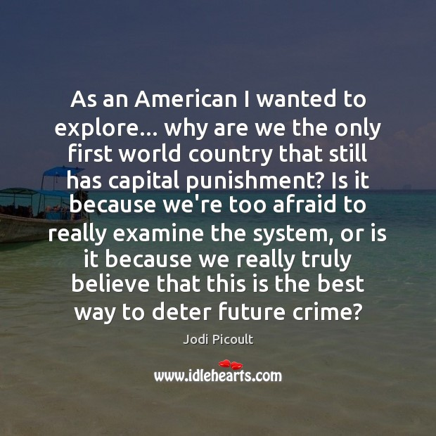 As an American I wanted to explore… why are we the only Image