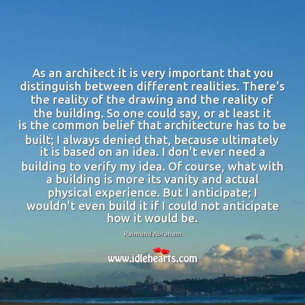 Image, As an architect it is very important that you distinguish between different