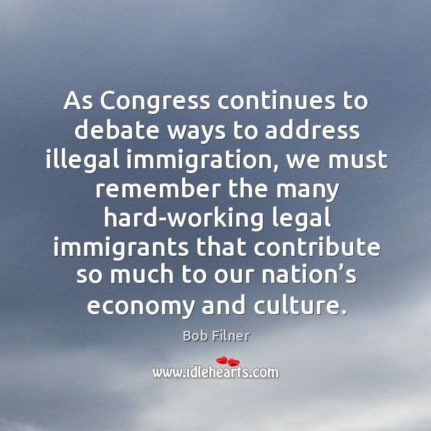 As congress continues to debate ways to address illegal immigration Image