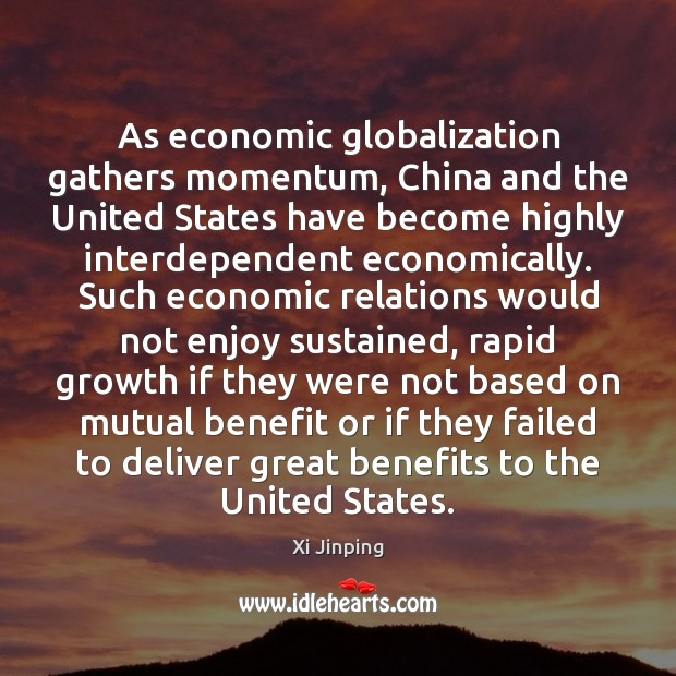 As economic globalization gathers momentum, China and the United States have become Image