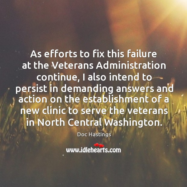 Image, As efforts to fix this failure at the veterans administration continue