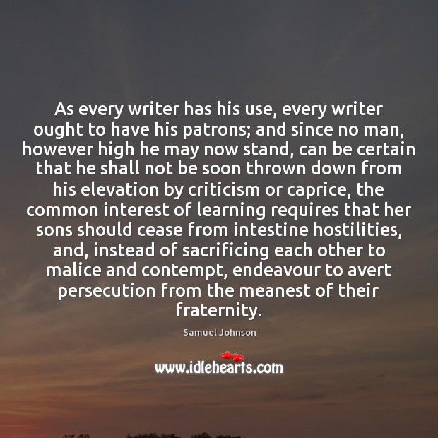 Image, As every writer has his use, every writer ought to have his