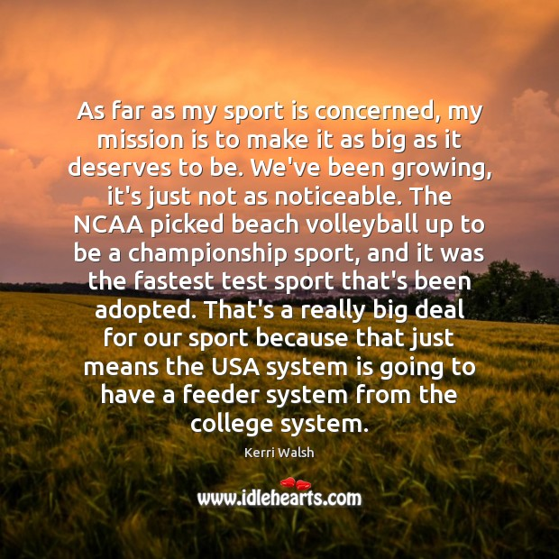 Image, As far as my sport is concerned, my mission is to make