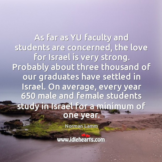 As far as yu faculty and students are concerned Image