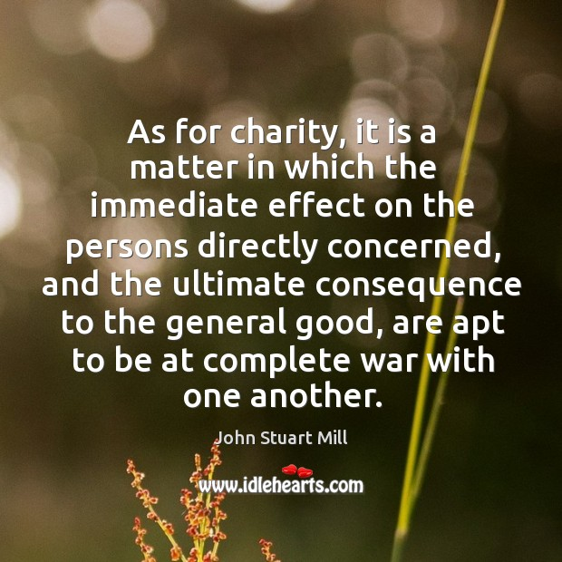 Image, As for charity, it is a matter in which the immediate effect on the persons directly concerned
