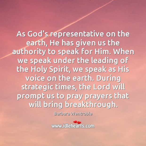 Image, As God's representative on the earth, He has given us the authority