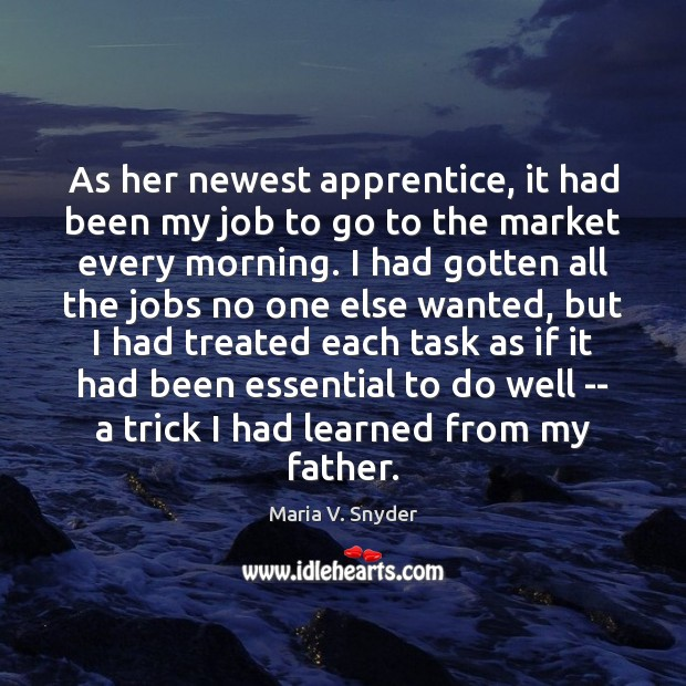 As her newest apprentice, it had been my job to go to Image