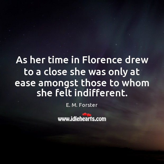 Image, As her time in Florence drew to a close she was only