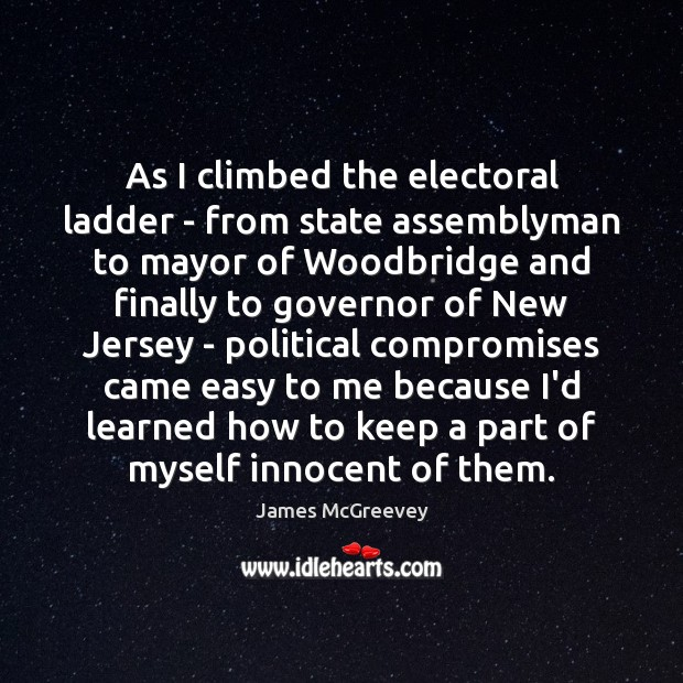 As I climbed the electoral ladder – from state assemblyman to mayor Image
