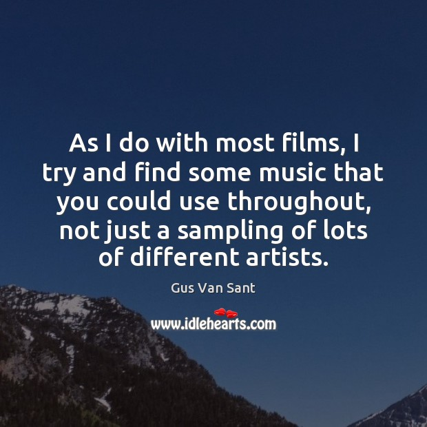 As I do with most films, I try and find some music Image