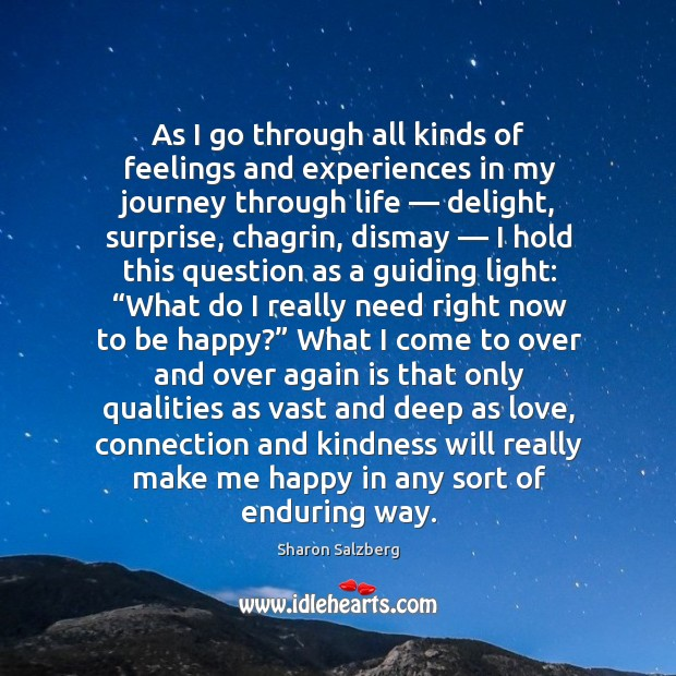 As I go through all kinds of feelings and experiences in my journey through life Image