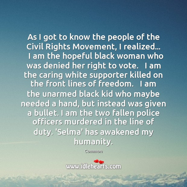As I got to know the people of the Civil Rights Movement, Image