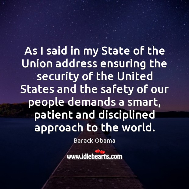 Image, As I said in my State of the Union address ensuring the