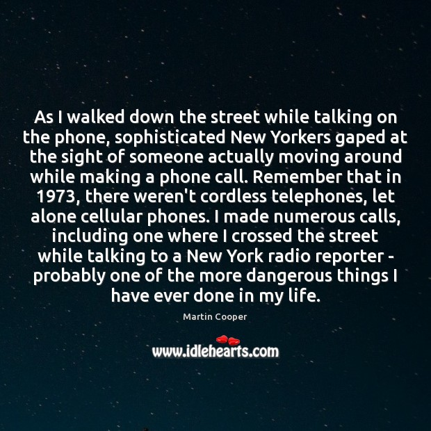 Image, As I walked down the street while talking on the phone, sophisticated