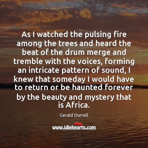 Image, As I watched the pulsing fire among the trees and heard the