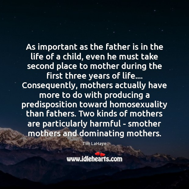 As important as the father is in the life of a child, Image