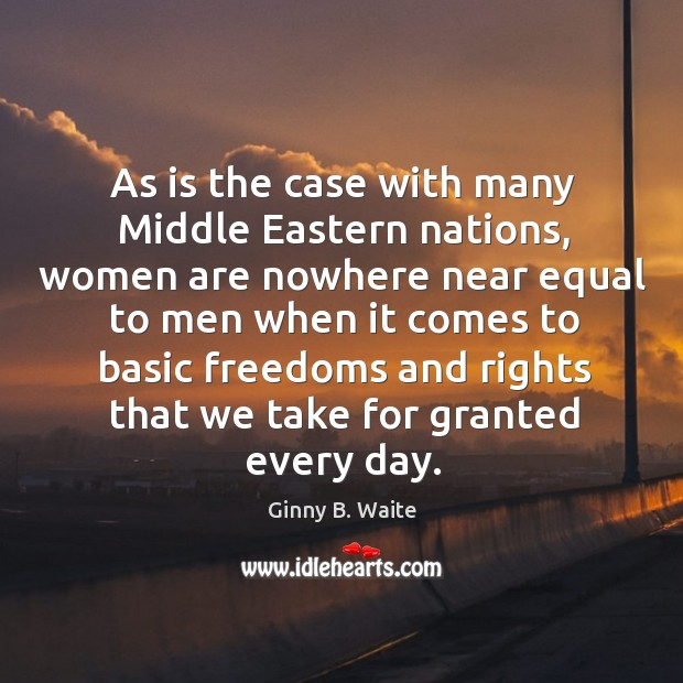 Image, As is the case with many middle eastern nations, women are nowhere near equal to men