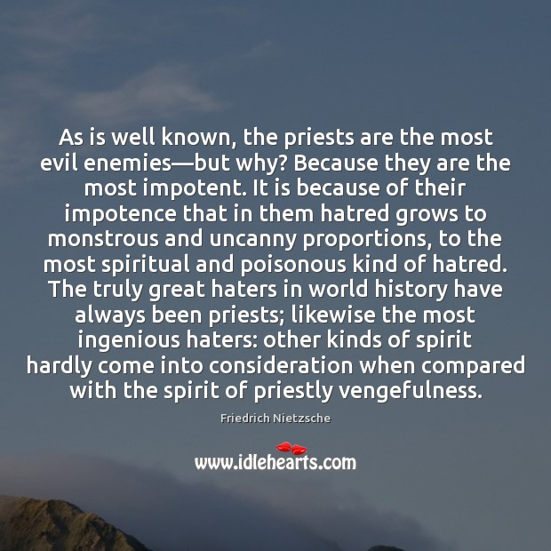 Image, As is well known, the priests are the most evil enemies—but