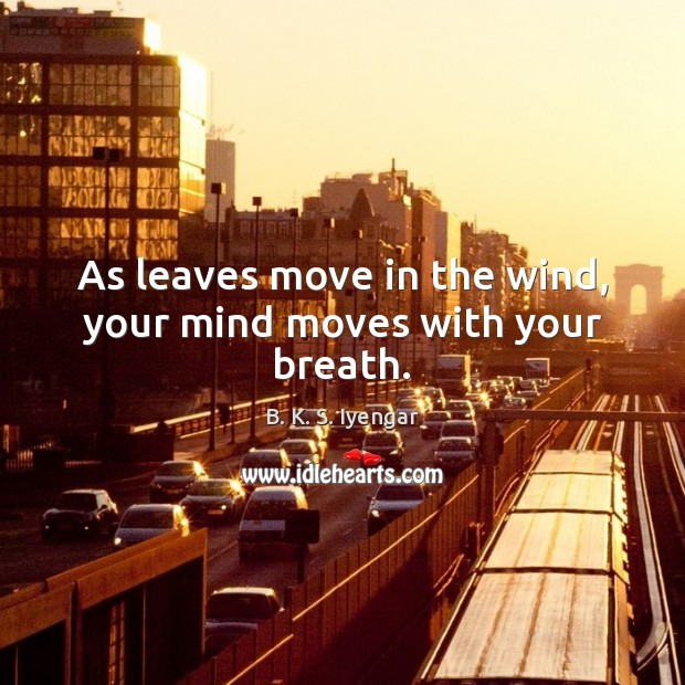 As leaves move in the wind, your mind moves with your breath. Image