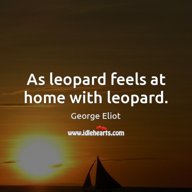Image, As leopard feels at home with leopard.