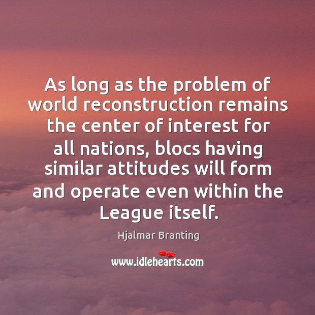 As long as the problem of world reconstruction remains the center of interest Image