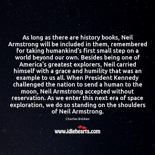 Image, As long as there are history books, Neil Armstrong will be included