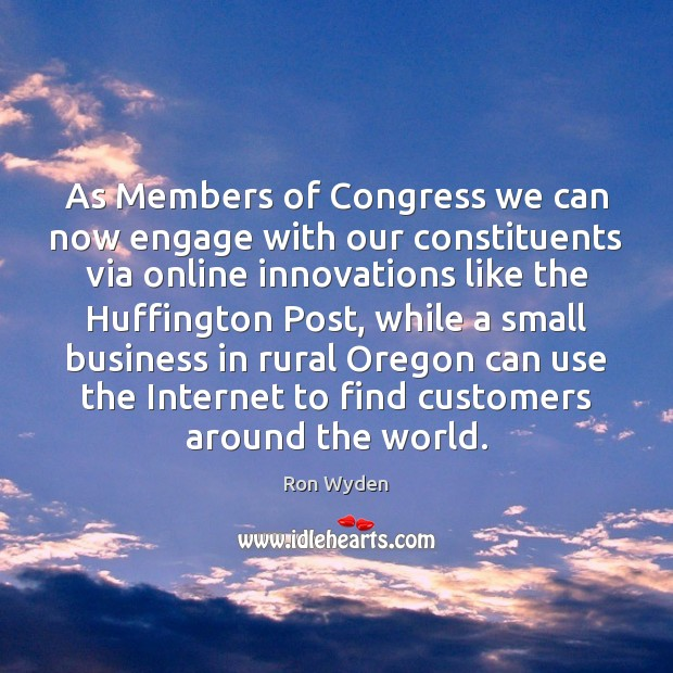 As Members of Congress we can now engage with our constituents via Image