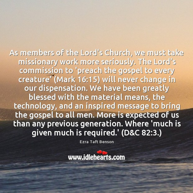Image, As members of the Lord's Church, we must take missionary work more