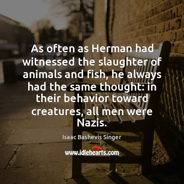 Image, As often as Herman had witnessed the slaughter of animals and fish,